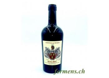 """Vin rouge """"Malbec"""" Château de Denens 75cl"""