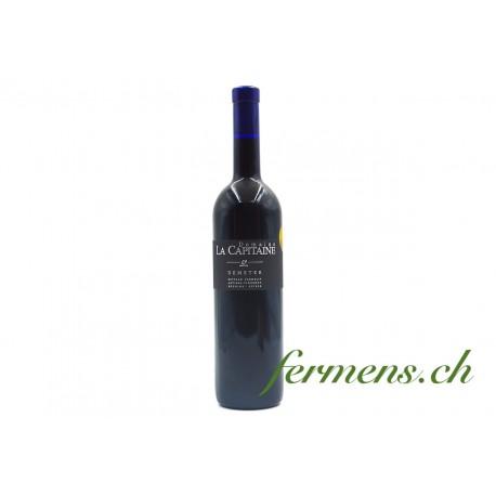 Vin rouge Gamaret nature sans sulfite 2020, La Capitaine, 75cl